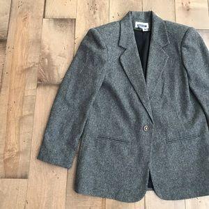 Prophecy Wool Blazer Coat Jacket Gray 8